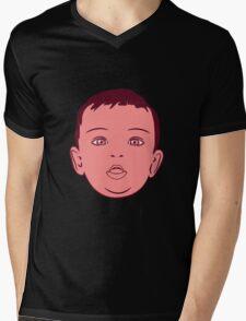 Baby face sweet love Mens V-Neck T-Shirt