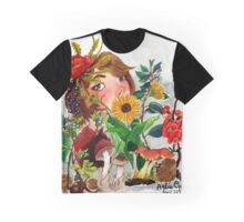 Field and Forest Watercolor Painting Graphic T-Shirt