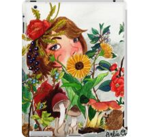 Field and Forest Watercolor Painting iPad Case/Skin