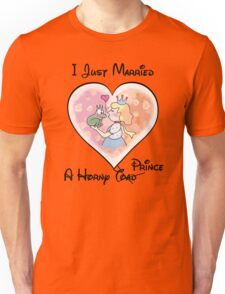 Just Married A Horny Prince Unisex T-Shirt