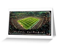 Soccer cathedral Greeting Card