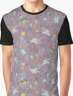 Cat - mermaids under the sea.  Graphic T-Shirt