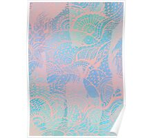 Abstract pastels color pattern Poster