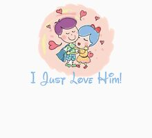 I Just Love Him Womens Fitted T-Shirt