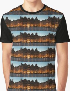 Brussels - Grand Place Facades Golden Glow Graphic T-Shirt