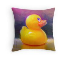 Escape from the Tub Throw Pillow