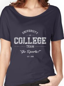 University of College Team Go Sports! Women's Relaxed Fit T-Shirt