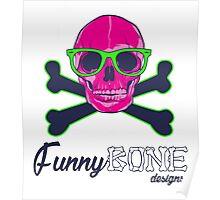 FunnyBONE Skull Logo Poster