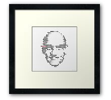 Foucault in Dots Framed Print