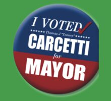 "I Voted Carcetti for Mayor (pin) - ""The Wire"" One Piece - Short Sleeve"