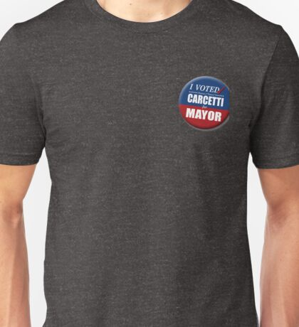 "I Voted Carcetti for Mayor (pin) - ""The Wire"" Unisex T-Shirt"
