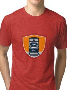 Diesel Train Freight Rail Crest Retro Tri-blend T-Shirt