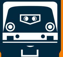 Diesel Train Freight Rail Crest Retro Sticker