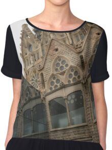Reflecting on Sagrada Familia, Antoni Gaudi's Masterpiece Chiffon Top