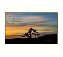 Bible Verse Mark 12:30 Art Print