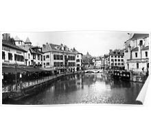 Panoramic View of Le Thiou,  Annercy Old Town. Poster