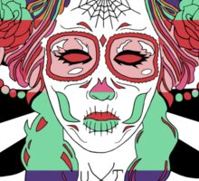 Colorful Day of the Dead Women Sticker