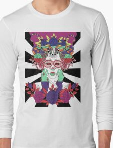 Colorful Day of the Dead Women Long Sleeve T-Shirt
