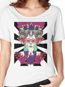 Colorful Day of the Dead Women Women's Relaxed Fit T-Shirt