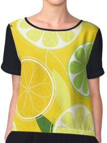 Yellow Citrus: Citrus fruit background vector Chiffon Top