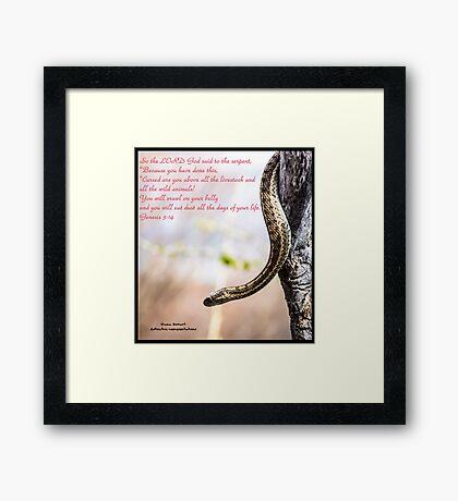 Bible Verse Genesis 3:14 Framed Print