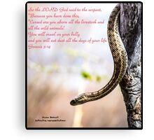 Bible Verse Genesis 3:14 Canvas Print