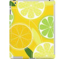 Yellow Citrus: Citrus fruit background vector iPad Case/Skin