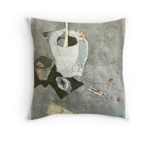 hessian vase and mousetrap Throw Pillow