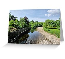 River Swale, Grinton Greeting Card