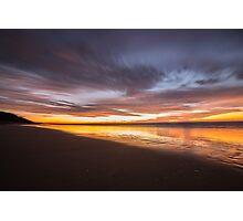 Teewah Beach Morning Glow Photographic Print