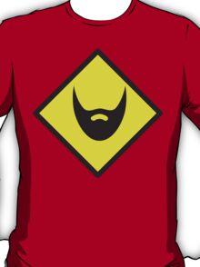 BEWARE beard yellow sign T-Shirt