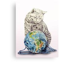 Our feline deity shows restraint Metal Print
