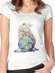 Our feline deity shows restraint Women's Fitted Scoop T-Shirt