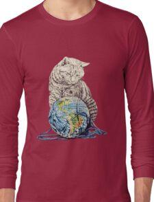 Our feline deity shows restraint Long Sleeve T-Shirt