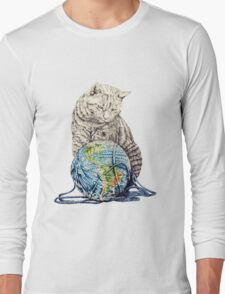 Our feline deity shows restraint Long Sleeve T-Shirt
