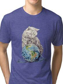 Our feline deity shows restraint Tri-blend T-Shirt