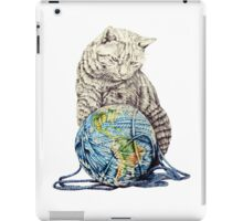 Our feline deity shows restraint iPad Case/Skin