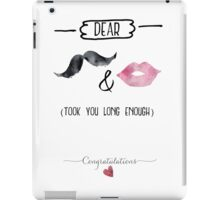 Congrats to the Bride and Groom iPad Case/Skin