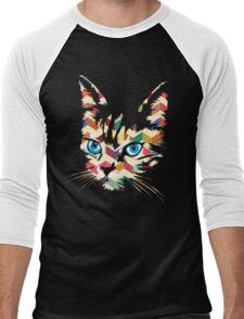 POP ART CAT Men's Baseball ¾ T-Shirt