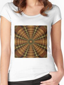Ancient Temple Mandala Women's Fitted Scoop T-Shirt
