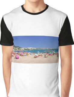 On the beach at Cannes Graphic T-Shirt