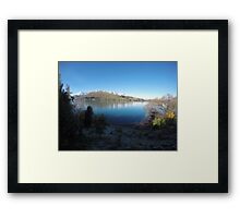 Queenstown lake Framed Print