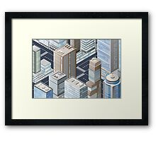 Picture of the city for iPhone Framed Print