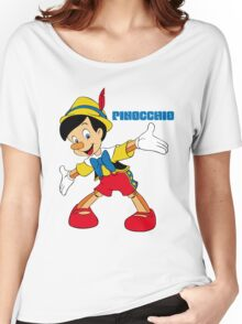 Pinocchio Cartoon Movie Funny Women's Relaxed Fit T-Shirt