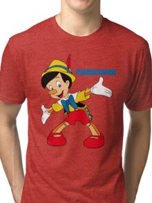 Pinocchio Cartoon Movie Funny Tri-blend T-Shirt
