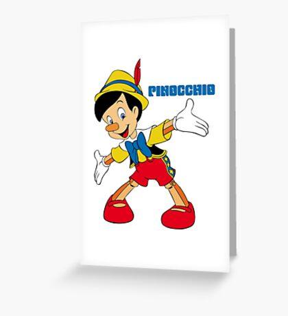Pinocchio Cartoon Movie Funny Greeting Card