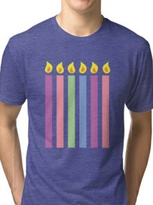 Cute birthday candles many colours Tri-blend T-Shirt