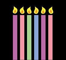 Cute birthday candles many colours by jazzydevil