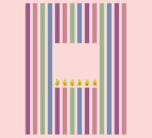 Cute little birthday candles in a rectangle One Piece - Short Sleeve