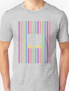 Cute little birthday candles in a rectangle Unisex T-Shirt